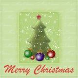 Priorità bassa con un albero di nuovo anno Immagini Stock Libere da Diritti