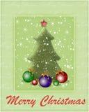 Priorità bassa con un albero di nuovo anno Fotografie Stock Libere da Diritti