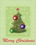 Priorità bassa con un albero di nuovo anno Fotografie Stock