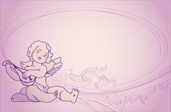 Priorità bassa con un angelo Immagini Stock