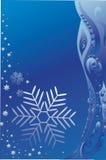 Priorità bassa con un fiocco di neve blu. Fotografia Stock Libera da Diritti
