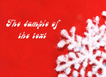 Priorità bassa con un fiocco di neve lanuginoso bianco. Fotografie Stock