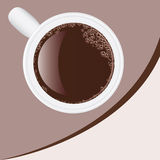 Priorità bassa con una tazza di caffè illustrazione di stock