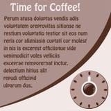 Priorità bassa con una tazza di caffè ed i fagioli illustrazione vettoriale