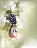 Priorità bassa con vino rosso Fotografie Stock Libere da Diritti