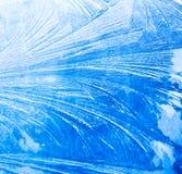 Priorità bassa congelata della finestra Fotografie Stock Libere da Diritti