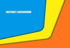 Priorità bassa corporativa variopinta astratta Vector la scatola quadrata di strato di carta di sovrapposizione per progettazione Fotografia Stock Libera da Diritti