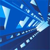 priorità bassa Corridoio di vettore 3D Immagini Stock