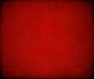 Priorità bassa costolata marmorizzata rossa Grungy della tela di canapa Fotografie Stock Libere da Diritti