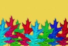 Priorità bassa creativa di autunno Fondo astratto delle foglie variopinte Immagine Stock