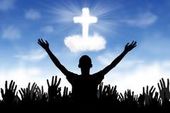 Priorità bassa cristiana: Credenti Fotografia Stock Libera da Diritti