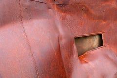 Priorità bassa d'acciaio arrugginita Fotografie Stock