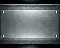 Priorità bassa d'acciaio d'argento astratta Fotografia Stock