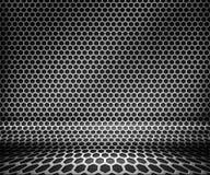 Priorità bassa d'acciaio di griglia della sfortuna del metallo illustrazione vettoriale