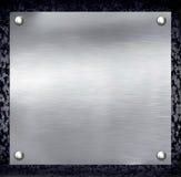 Priorità bassa d'acciaio di piastra metallica. Fotografia Stock Libera da Diritti