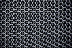 Priorità bassa d'acciaio scura di griglia Immagini Stock Libere da Diritti
