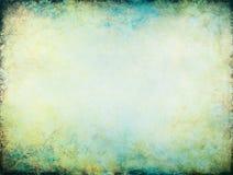 Priorità bassa d'ardore blu gialla Immagini Stock
