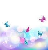 Priorità bassa d'ardore con la farfalla Fotografia Stock Libera da Diritti