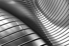 Priorità bassa d'argento astratta di alluminio del metallo Fotografia Stock