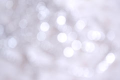Priorità bassa d'argento dell'indicatore luminoso di natale Fotografia Stock
