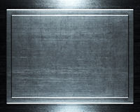 Priorità bassa d'argento spazzolata del metallo Fotografia Stock
