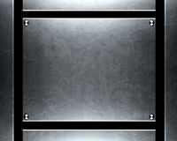 Priorità bassa d'argento spazzolata del metallo Immagini Stock Libere da Diritti