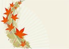 Priorità bassa d'autunno del foglio Fotografie Stock Libere da Diritti