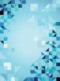 Priorità bassa d'avanguardia astratta blu con i triangoli Immagine Stock Libera da Diritti