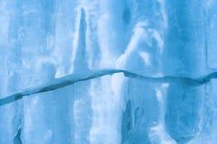 Priorità bassa da ghiaccio di colore blu Immagine Stock