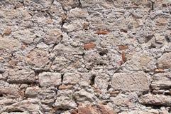 Priorità bassa da una vecchia parete di pietra antica Immagini Stock