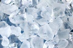 Priorità bassa dai cubi di ghiaccio Immagine Stock Libera da Diritti