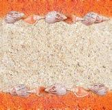 Priorità bassa dalla sabbia e coperture in uno stile del grunge Fotografie Stock Libere da Diritti