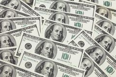 Priorità bassa dalle banconote in 1 Immagine Stock Libera da Diritti