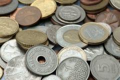 Priorità bassa dalle monete Immagine Stock Libera da Diritti