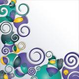 Priorità bassa decorata con le spirali Fotografie Stock
