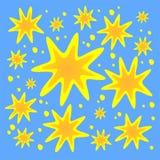 Priorità bassa decorata delle stelle illustrazione vettoriale