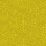 Priorità bassa decorata gialla Fotografia Stock