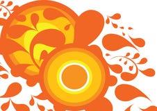Priorità bassa decorativa arancione e gialla illustrazione vettoriale