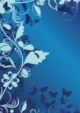 Priorità bassa decorativa blu illustrazione di stock