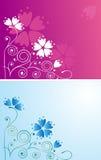 Priorità bassa decorativa con i fiori Fotografie Stock