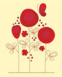 Priorità bassa decorativa con le rose astratte Fotografia Stock Libera da Diritti