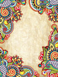 Priorità bassa decorativa floreale astratta di Grunge, illustratio di vettore Fotografia Stock Libera da Diritti
