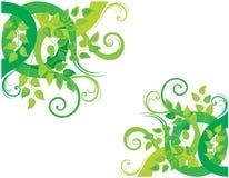 Priorità bassa decorativa verde Fotografie Stock Libere da Diritti