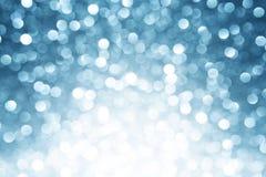Priorità bassa defocused blu degli indicatori luminosi Fotografia Stock