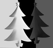 Priorità bassa degli alberi di Natale Immagini Stock Libere da Diritti