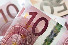 Priorità bassa degli euro Fotografie Stock Libere da Diritti