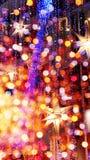 Priorità bassa degli indicatori luminosi al neon Fotografie Stock Libere da Diritti