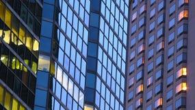 Priorità bassa degli indicatori luminosi delle costruzioni Fotografia Stock