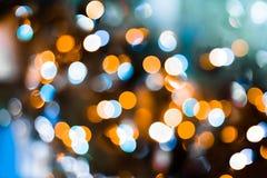 Priorità bassa degli indicatori luminosi di natale Fondo festivo del bokeh del nuovo anno Fotografie Stock