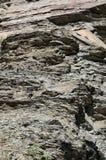 Priorità bassa degli strati della roccia Immagini Stock Libere da Diritti